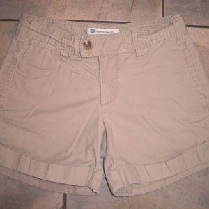 GAP Favorite Tan/ Khaki Cuffed Shorts 1